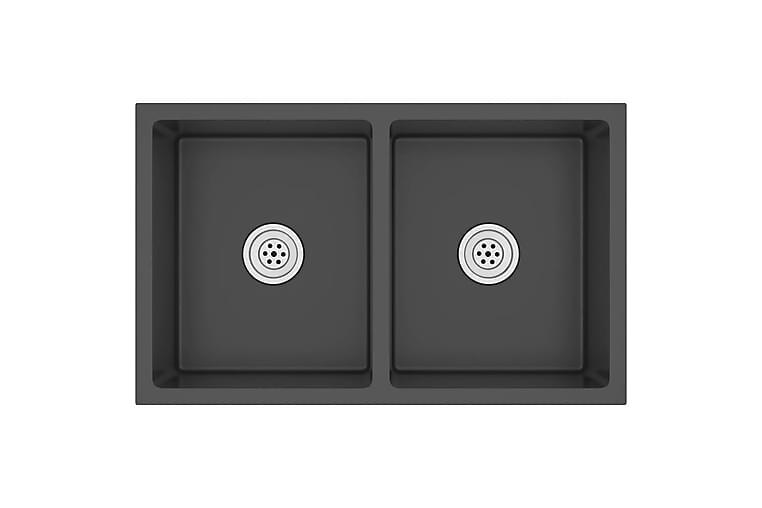 Käsintehty keittiön tiskiallas musta ruostumaton teräs - Kylpyhuone - Pesualtaat - Pesuallas