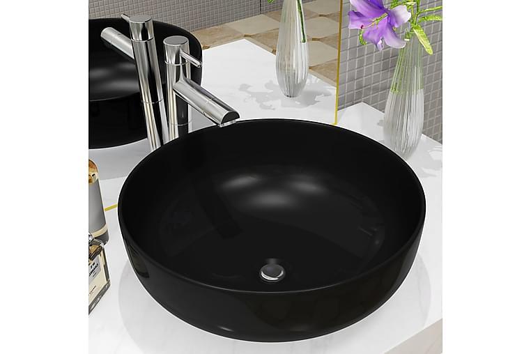 Keraaminen pesuallas pyöreä 41,5 x 13,5 cm musta - Musta - Kylpyhuone - Pesualtaat - Pesuallas