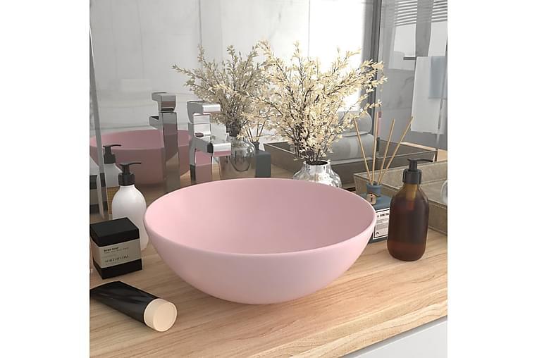 Kylpyhuoneen pesuallas keraaminen pinkki pyöreä - Kylpyhuone - Pesualtaat - Pesuallas