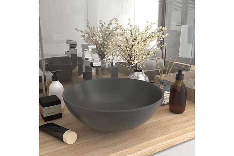 Kylpyhuoneen pesuallas keraaminen tummanharmaa pyöreä - Kylpyhuone - Pesualtaat - Pesuallas