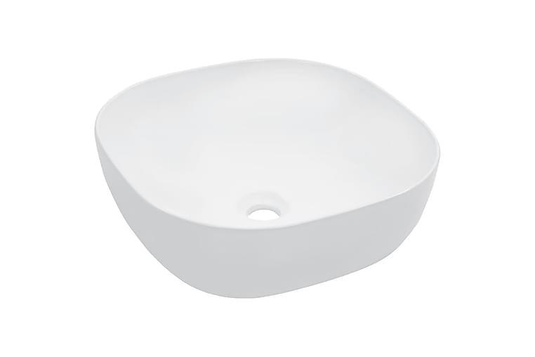 Pesuallas 42,5x42,5x14,5 cm keraaminen valkoinen - Valkoinen - Kylpyhuone - Pesualtaat - Pesuallas