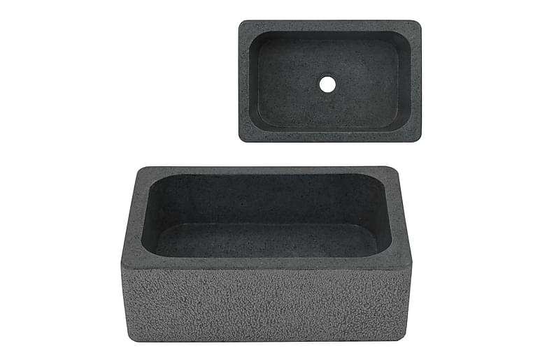 Pesuallas jokikivi 45x30x15 cm musta - Musta - Kylpyhuone - Pesualtaat - Pesuallas
