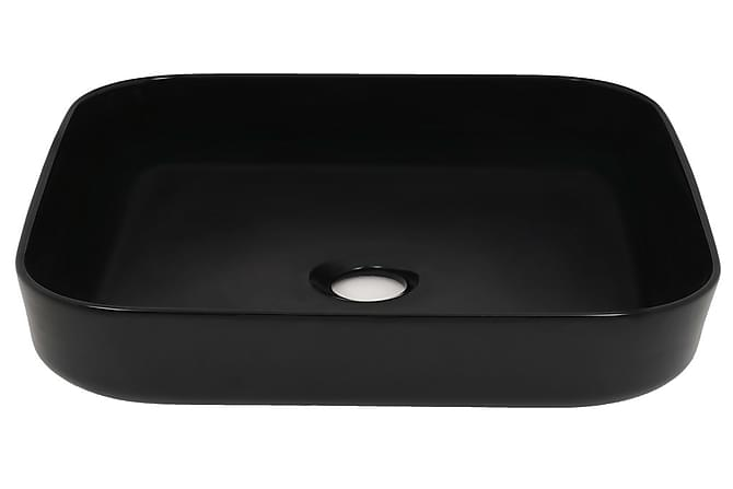 Pesuallas keraaminen neliö 38x38x13,5 cm musta - Musta - Kylpyhuone - Pesualtaat