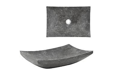 Pesuallas marmori 50x35x12 cm musta