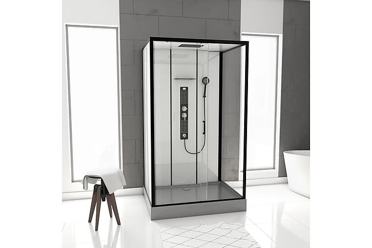 Suihkukaappi Sjuntorp 215 cm - Musta/Harmaa - Kylpyhuone - Suihkukalusteet - Suihkukaapit