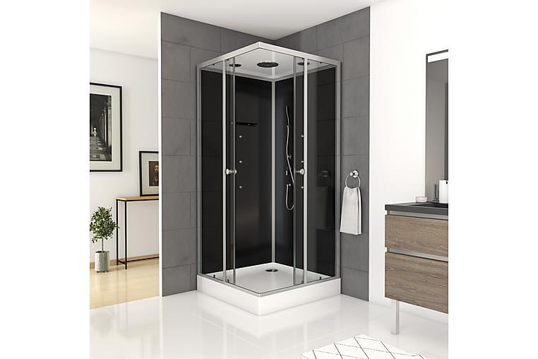 Suihkukaappi Vallenne 215 cm - Musta/Harmaa - Kylpyhuone - Suihkukalusteet - Suihkukaapit