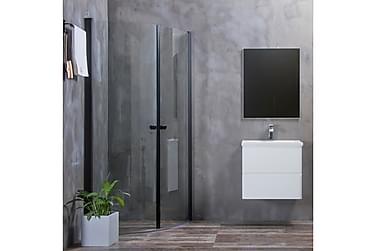Bathlife Mångsidig Suihkukulma Pyöreä ovi 45° Musta