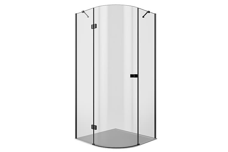 Lasiseinä Stockhyltan 200 cm - Musta - Kylpyhuone - Suihkukalusteet - Suihkuseinät