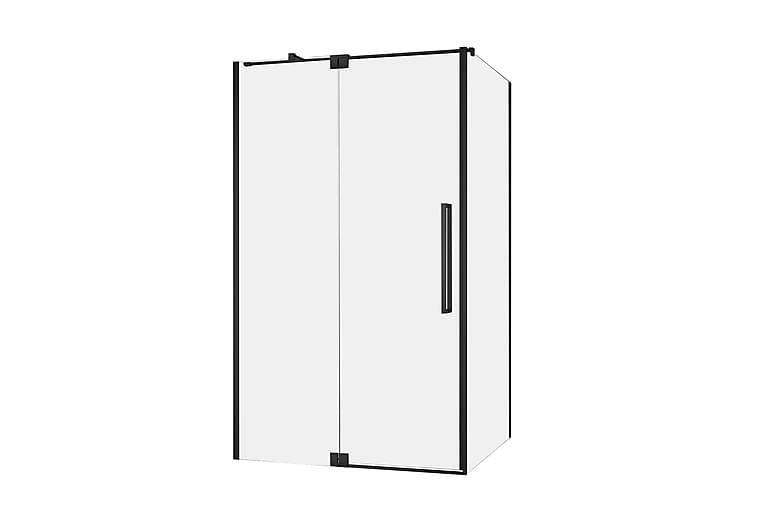 Lasiseinä Tomtbod 140 cm - Musta - Kylpyhuone - Suihkukalusteet - Suihkuseinät