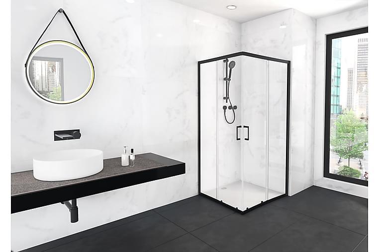 Lasiseinä Venlla 200 cm - Musta - Kylpyhuone - Suihkukalusteet - Suihkuseinät