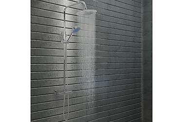 Kaksipäinen suihkusetti termostaatilla ruostumaton teräs