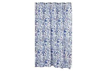 Suihkuverho Kukka Sininen/valkoinen