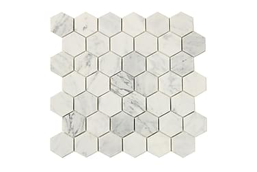Hexagon Carrara White 5X5