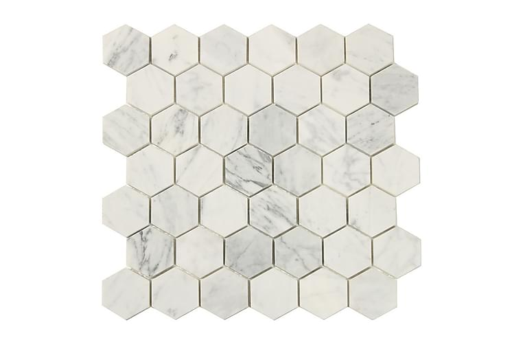 Hexagon Carrara White 5X5 - Seinälaatat & Lattialaatat - Lattialaatat - 6-kulmaiset lattialaatat