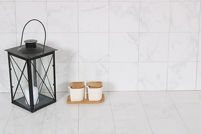 Lattialaatta New Bianco Carrara 15X15 - Seinälaatat & Lattialaatat - Lattialaatat - Marmorikuvioidut lattialaatat