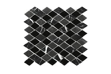 Kristallimosaiikki Black and Grey Mix 28X30
