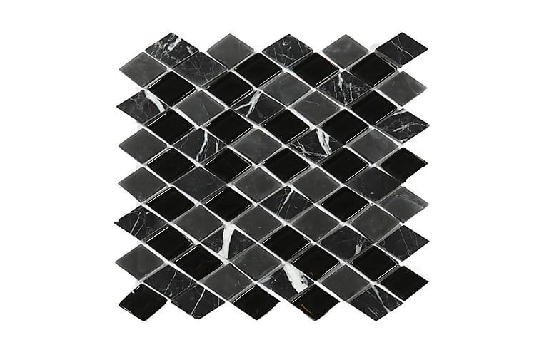Kristallimosaiikki Black and Grey Mix 28X30 - Seinälaatat & Lattialaatat - Mosaiikki - Kristallimosaiikki