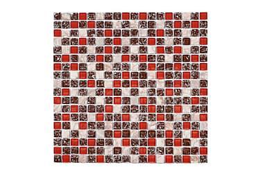 Kristallimosaiikki Red Mix 30X30