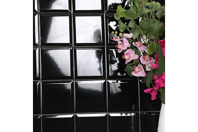 Seinälaatta Metro Black 15X15 - Seinälaatat & Lattialaatat - Seinälaatat - Faasatut seinälaatat