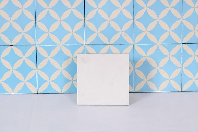 Marokkolainen Laatta Vintage Abayad 20X20 - Seinälaatat & Lattialaatat - Seinälaatat - Marokkolaiset seinälaatat