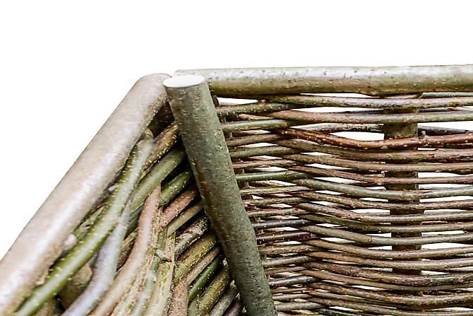 Korotettu kukkalaatikko 80x40x80 cm pähkinäpuu - Ruskea - Piha - Kukkaruukut - Suuret kukkaruukut
