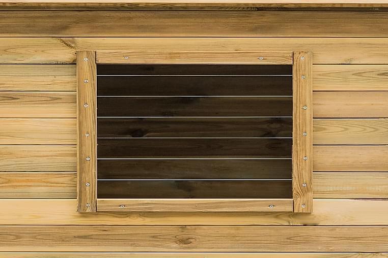 Ulkoleikkimökki 123x120x146 cm mänty - Ruskea - Piha - Leikit & vapaa-aika - Leikkipaikat & ulkoleikkitarvikkeet