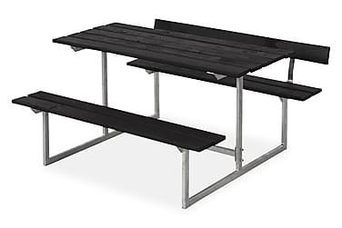 Basic Pöytä- ja penkkisetti lapsille 1 selkänojalla - musta