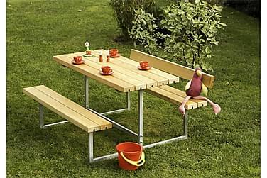Basic Pöytä- ja penkkisetti lapsille 2 selkänojalla - öljytt