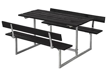 Basic Pöytä- ja penkkisetti lapsille 2 selkänojalla - musta