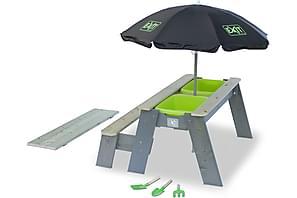 Exit Aksent Hiekka- ja Picnicpöytä 2 penkillä ja aurinkovarj