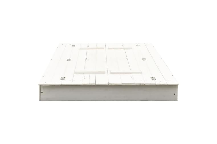 Hiekkalaatikko kuusi valkoinen 95x90x15 cm - Valkoinen - Piha - Leikit & vapaa-aika - Leikkipaikat & ulkoleikkitarvikkeet