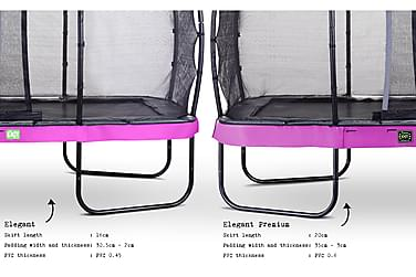 Trampoliini Elegant Premium verkolla Deluxe 214x366 Liila