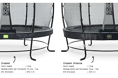 Trampoliini Elegant Premium verkolla Deluxe 251 Pyöreä Musta