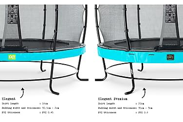 Trampoliini Elegant Premium verkolla Deluxe 366 Pyöreä Sinin
