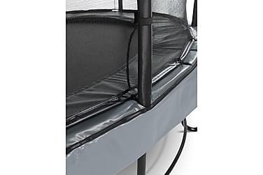 Trampoliini Elegant Premium verkolla Deluxe 427 Pyöreä Harma