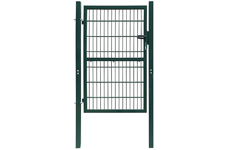 2D Aitaportti (Yksinkertainen) Vihreä 106 x 210 - Vihreä - Piha - Puutarhakoristeet & pihatarvikkeet - Aidat & portit