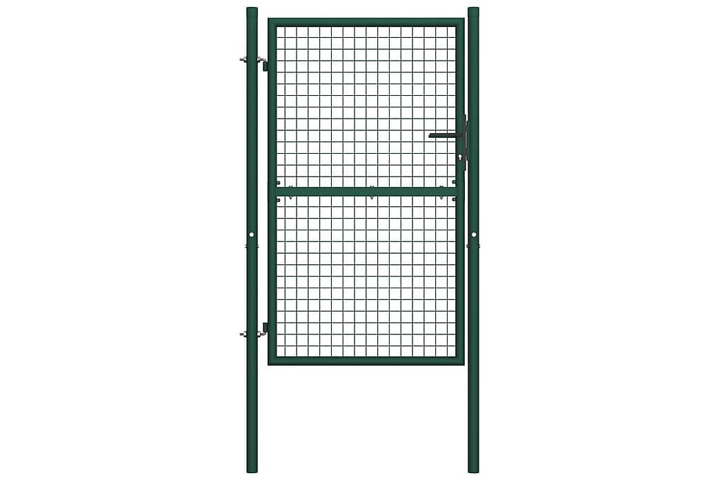 Aitaportti teräs 100x200 cm vihreä - Vihreä - Piha - Puutarhakoristeet & pihatarvikkeet - Aidat & portit