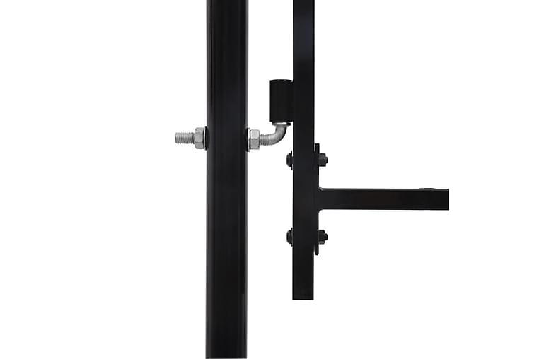 Autoportti keihäskärjillä 400 x 175 cm - Musta - Piha - Puutarhakoristeet & pihatarvikkeet - Aidat & portit