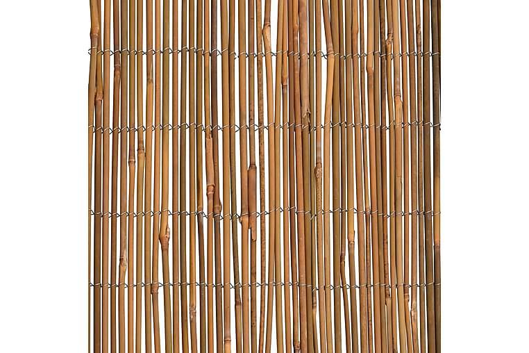 Bambuaita 500x125 cm - Ruskea - Piha - Puutarhakoristeet & pihatarvikkeet - Aidat & portit