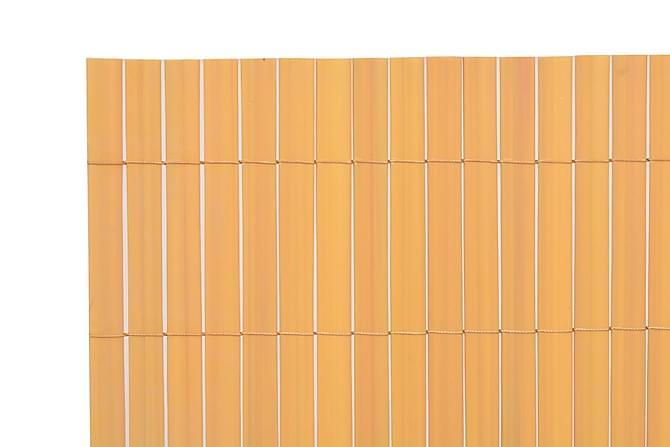 Kaksipuolinen puutarha-aita 150x500 cm Keltainen - Keltainen - Piha - Puutarhakoristeet & pihatarvikkeet - Aidat & portit