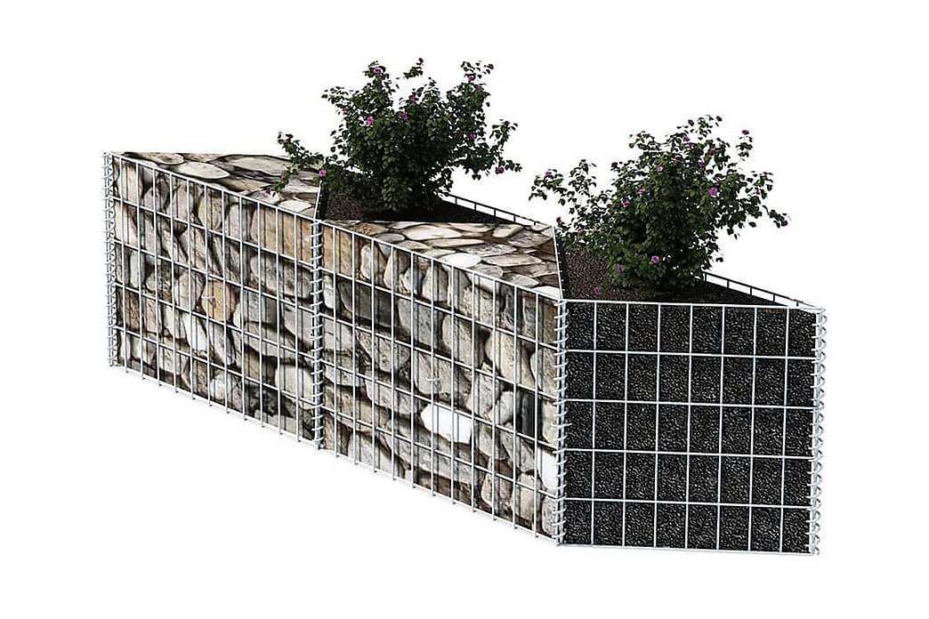 Kivikori galvanoitu teräs 120x30x50 cm - Hopea - Piha - Puutarhakoristeet & pihatarvikkeet - Aidat & portit
