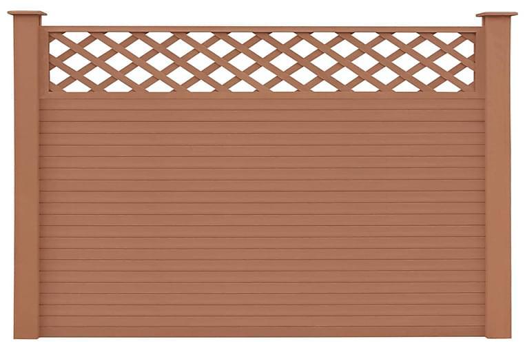 Lisäosa aitapaneelit 7 kpl WPC 170 cm ruskea - Ruskea - Piha - Puutarhakoristeet & pihatarvikkeet - Aidat & portit