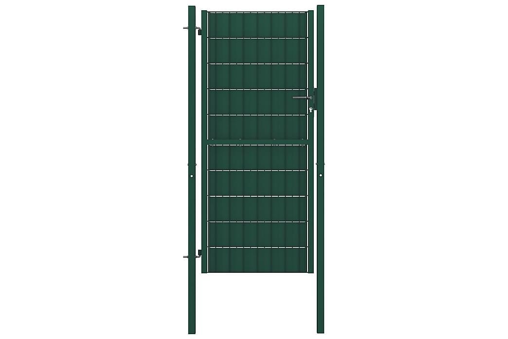 Pihaportti teräs 100x124 cm vihreä - Vihreä - Piha - Puutarhakoristeet & pihatarvikkeet - Aidat & portit