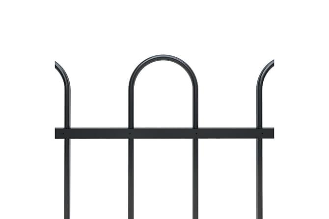 Puutarha-aita kaarikärjillä 8,5x1 m teräs musta - Musta - Piha - Puutarhakoristeet & pihatarvikkeet - Aidat & portit