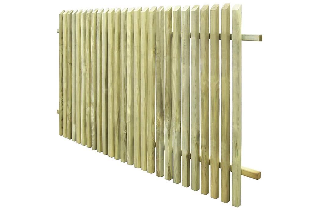 Puutarha-aita kyllästetty mänty 170x100 cm - Vihreä - Piha - Puutarhakoristeet & pihatarvikkeet - Aidat & portit