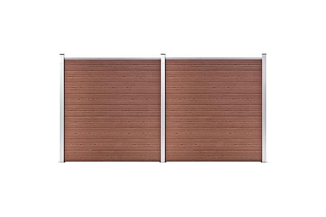 Puutarha-aita WPC 353x186 cm ruskea - Ruskea - Piha - Puutarhakoristeet & pihatarvikkeet - Aidat & portit