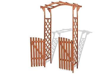 Puutarhakaari portilla Kiinteä puu 120x60x205 cm