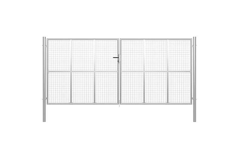 Puutarhaportti galvanoitu teräs 415x225 cm hopea - Hopea - Piha - Puutarhakoristeet & pihatarvikkeet - Aidat & portit