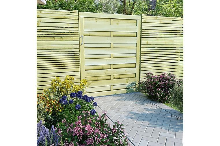 Puutarhaportti kyllästetty mänty 100x125 cm vihreä - Vihreä - Piha - Puutarhakoristeet & pihatarvikkeet - Aidat & portit