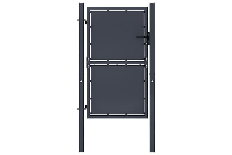Puutarhaportti teräs 100x150 cm antrasiitti - Harmaa - Piha - Puutarhakoristeet & pihatarvikkeet - Aidat & portit